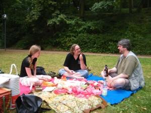 Picknick mit Jana, Snadmann und Hannes