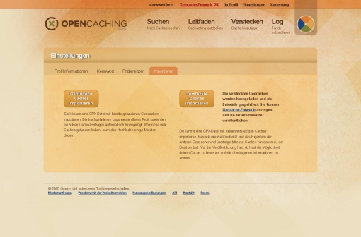 opencaching-upload-eigene-caches